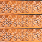 "Celtic Design Embossed Full Grain Leather Belt . 1½"" (38mm) Wide. Code EM006"